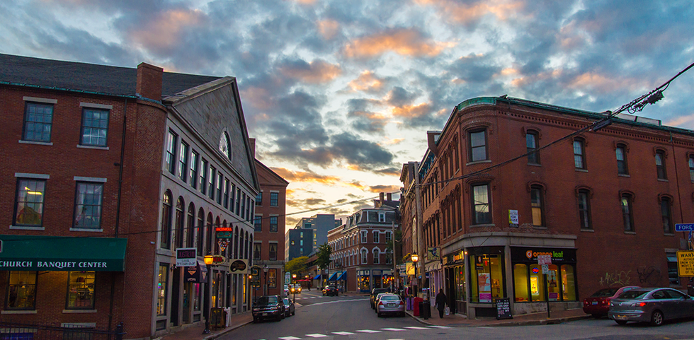 View of downtown area in Portland, Maine