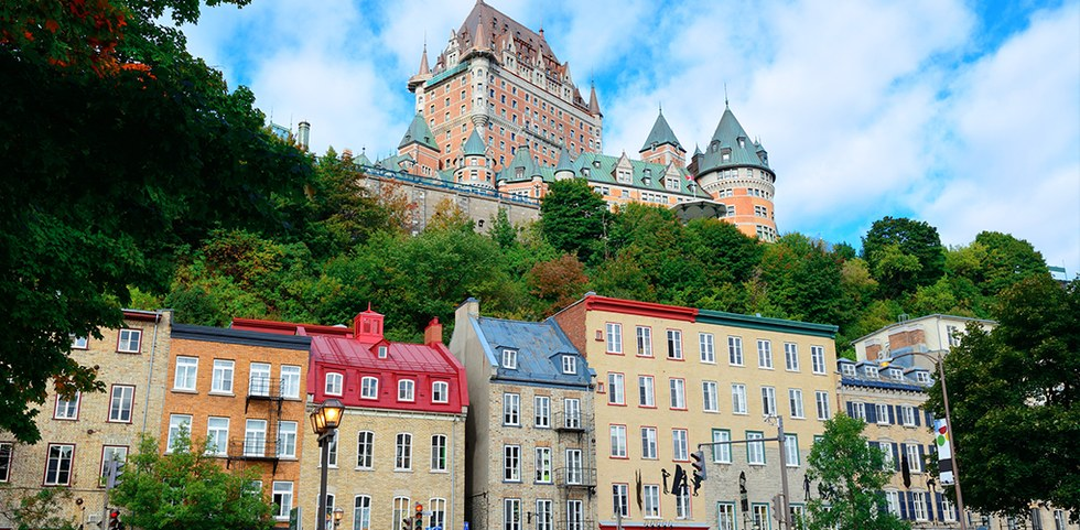 View of downtown in Quebec City, Canada