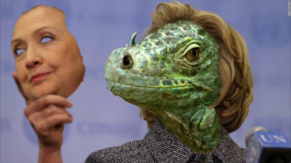Image result for hillary clinton lizard