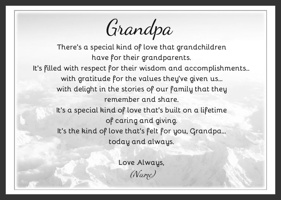 An Open Letter To My Grandfather
