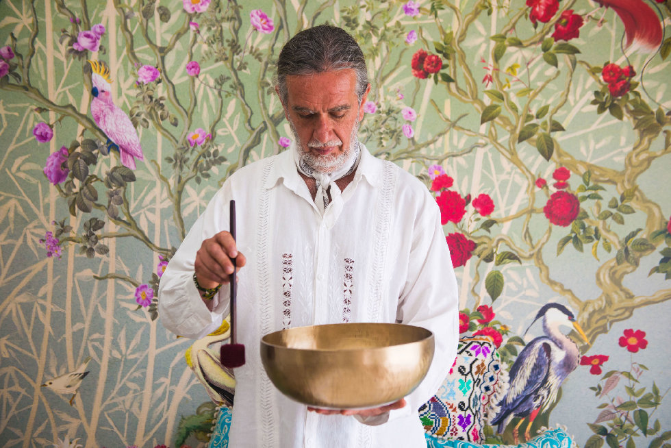A singing bowl treatment at Faena Hotel Miami Beach