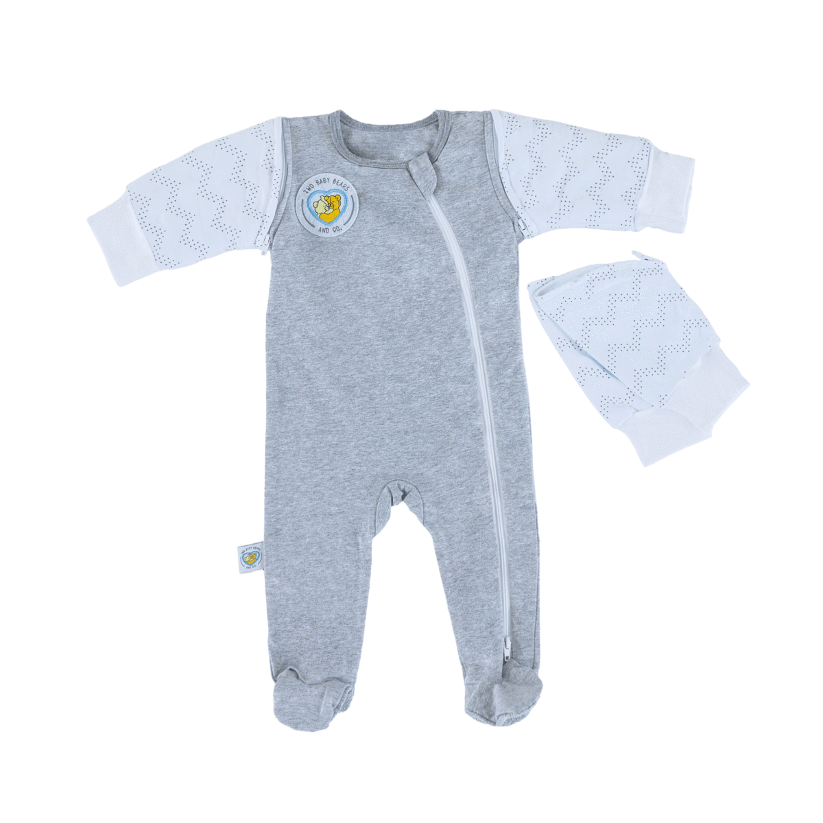 Swaddle Sleeves footie + găng tay găng