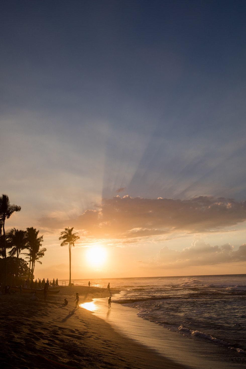 Sunset at the Four Seasons Resort Hualalai