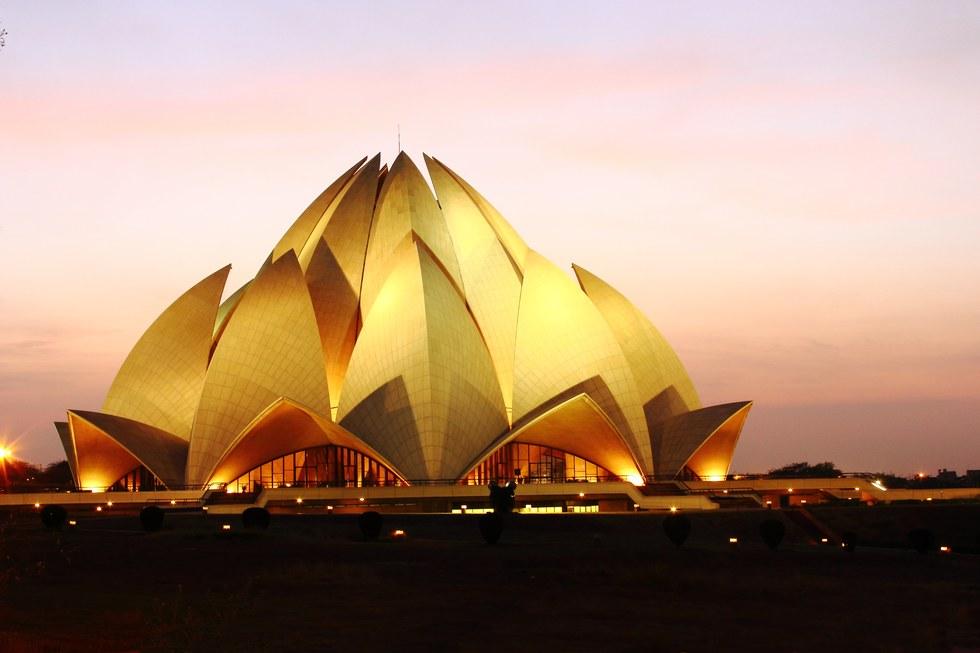 Lotus Temple in Delhi, India.