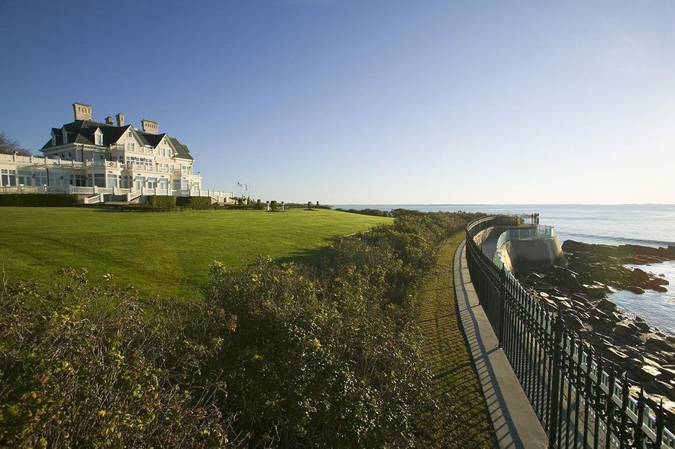 A mansion along the Cliff Walk in Newport, Rhode Island