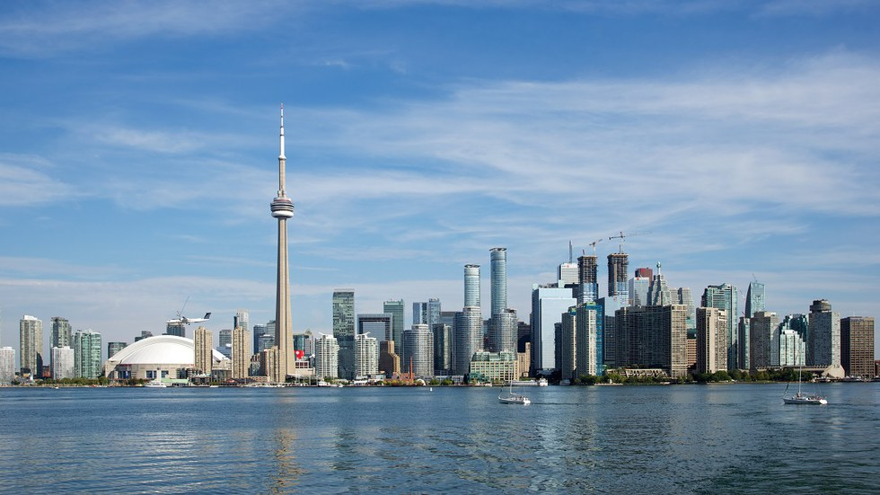 Skyline of Toronto, Canada from the water