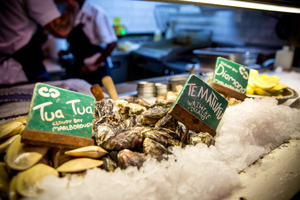 Fresh Oysters on ice at Depot Eatery