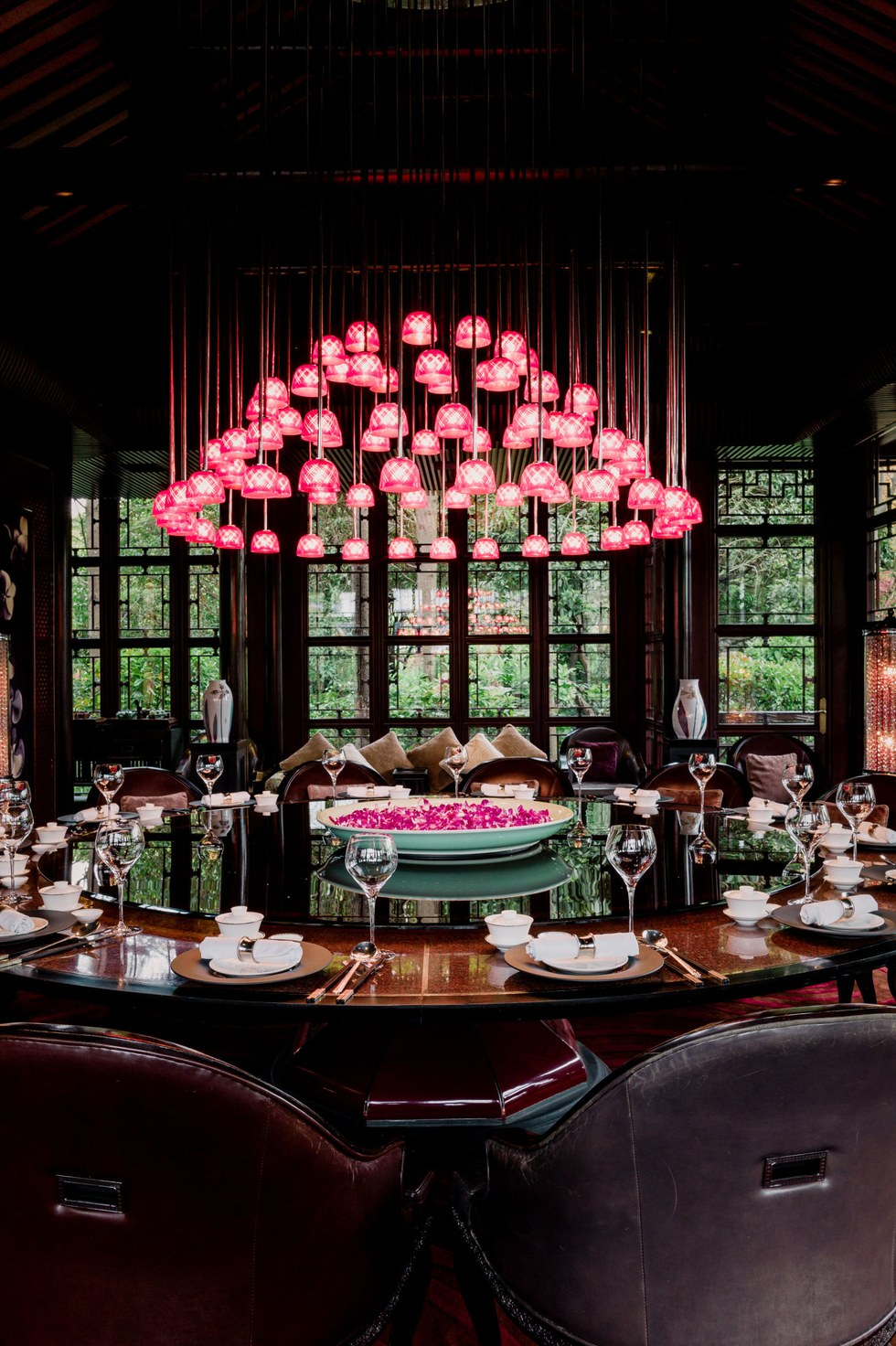 The dining room at the Four Seasons