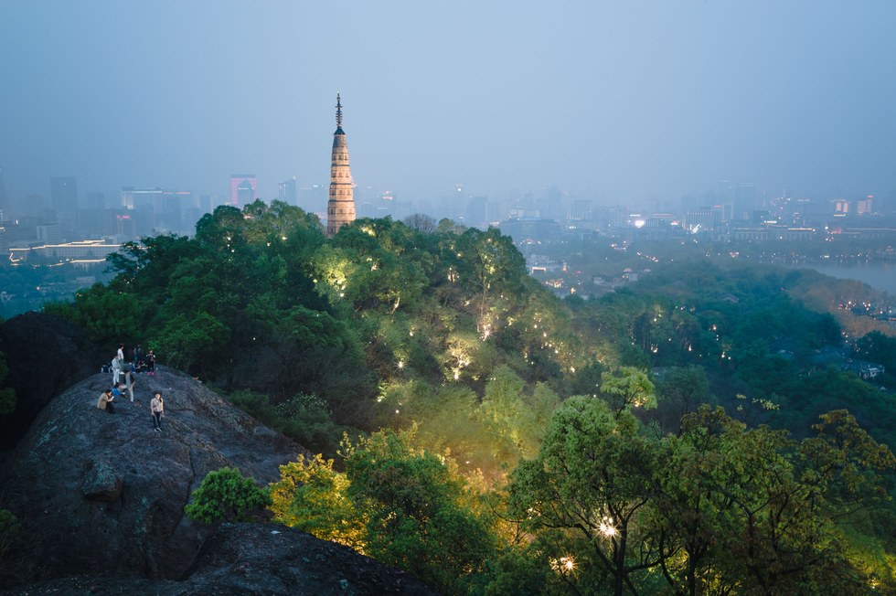 The view from the Baoshi Mountain Lookout