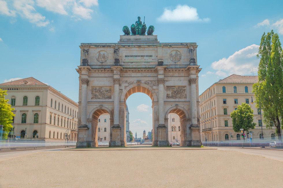 Siegestor victory gate located in Munich