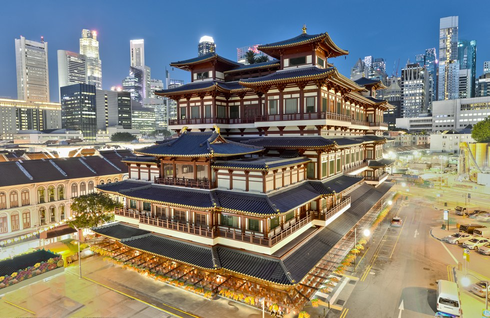 Buddhist Tooth Relic Temple and Museum in Singapore