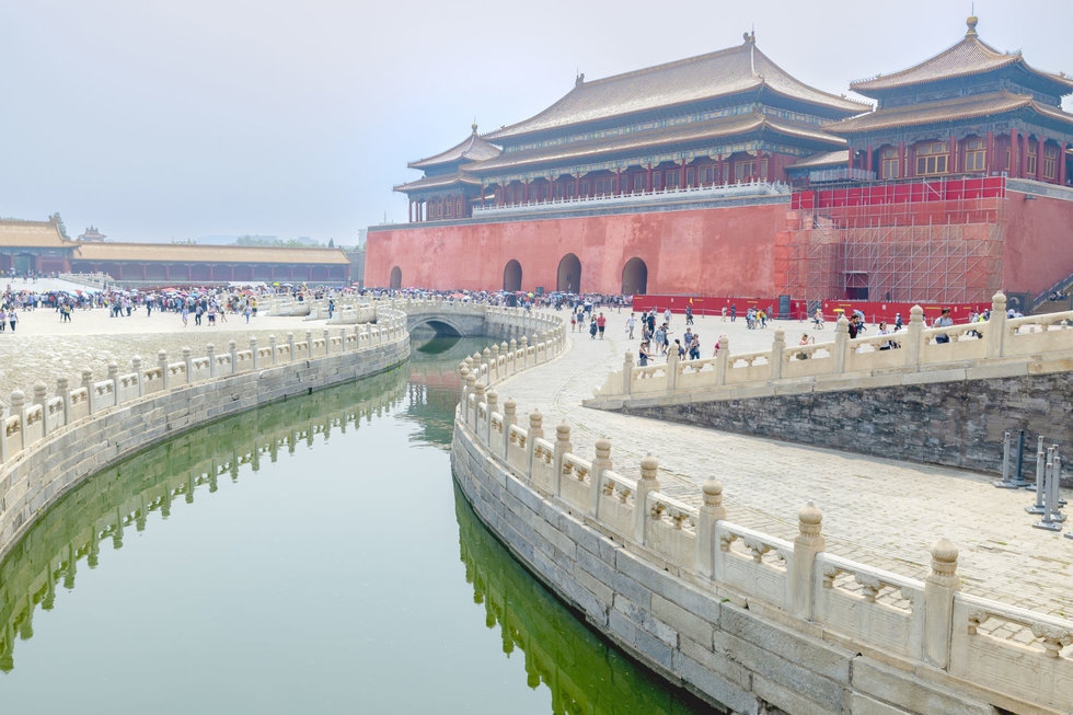 A moat at the Forbidden City