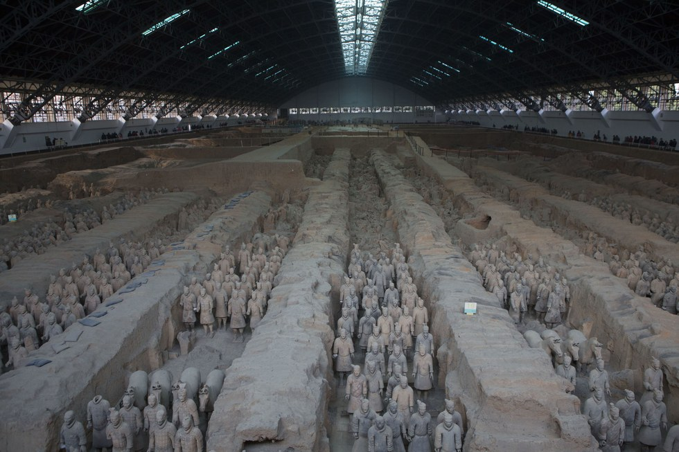Xi'an's premier attraction, the Terracotta Army