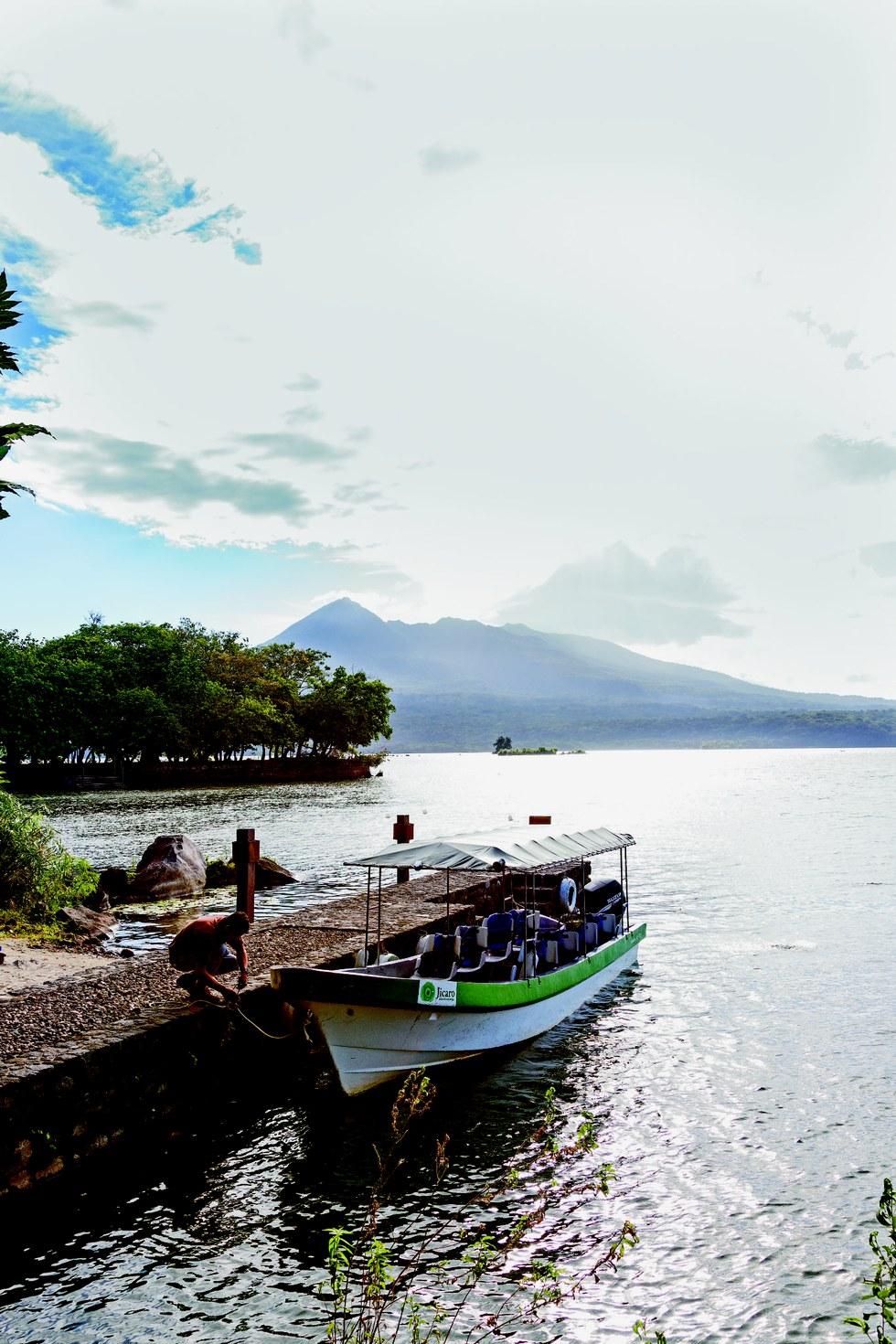 The dock at Jicaro Island Ecolodge;
