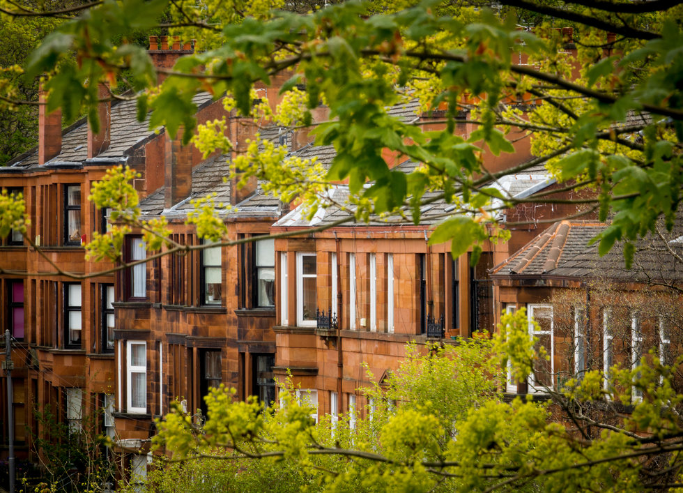 Glasgow Scotland Red Sandstone Buildings