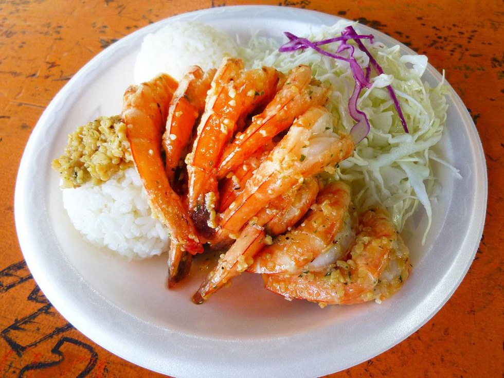 Hawaiian Butter Garlic Shrimp