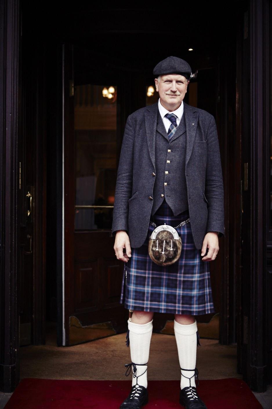 A doorman at The Balmoral Hotel