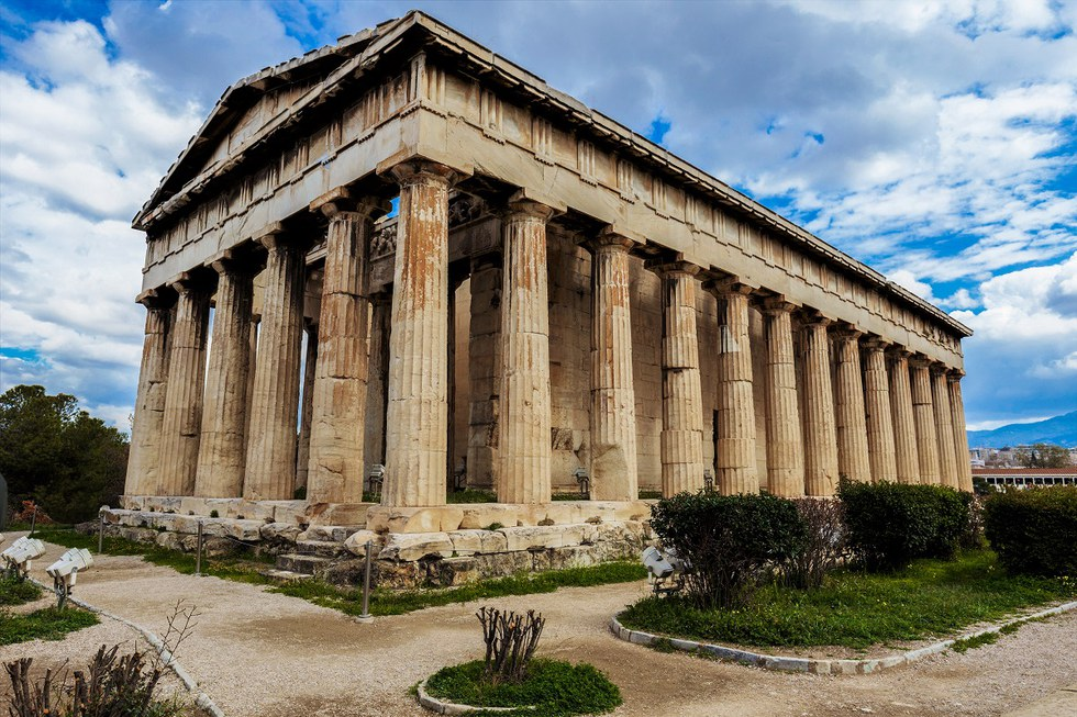 Hephaestus Temple in Athens, Greece