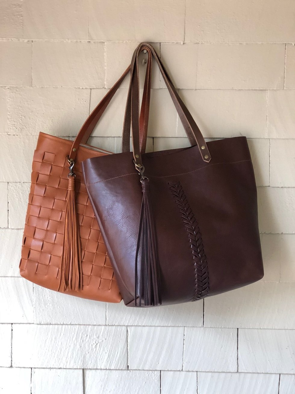 Leather bags at by elke at Pearl Street Mall in Boulder