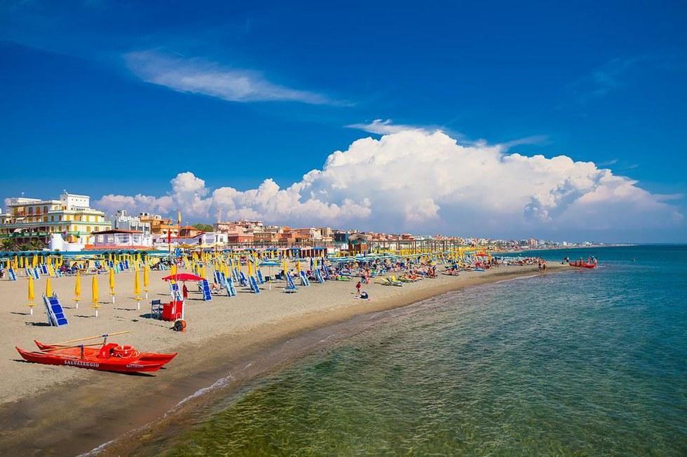 Lido Beach in Venice, Italy.