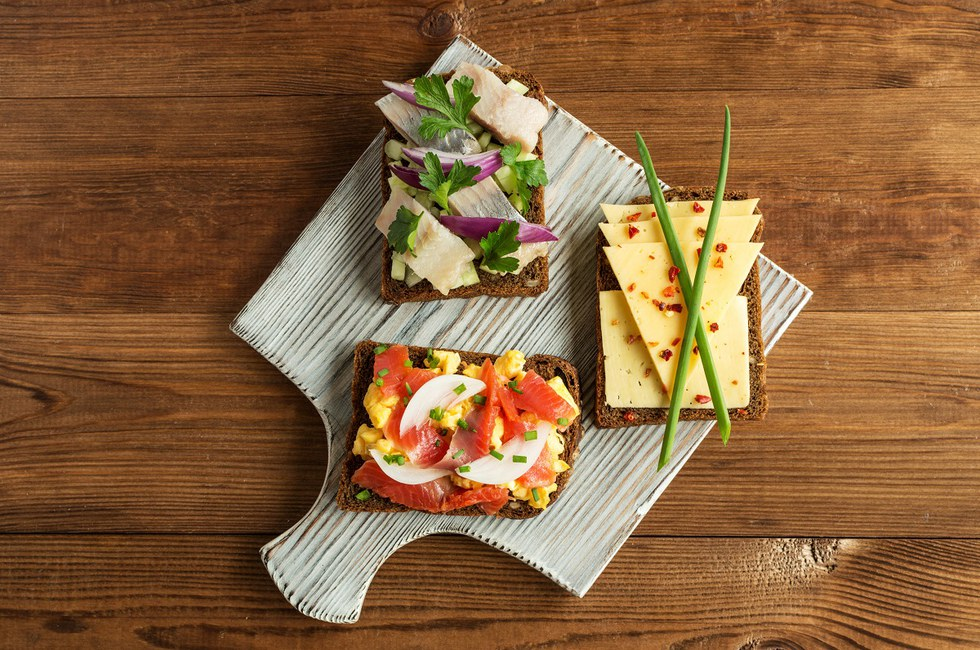 Sm\u00f8rrebr\u00f8d or open faced sandwiches in Copenhagen