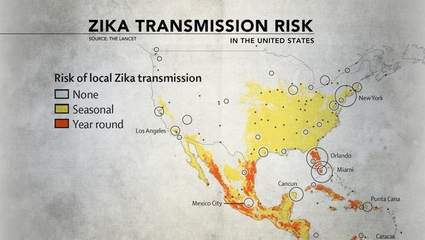 The Zika Virus - Zika virus map us