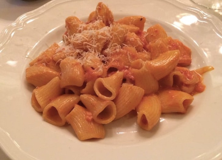 Spicy Rigatoni Vodka at Carbone