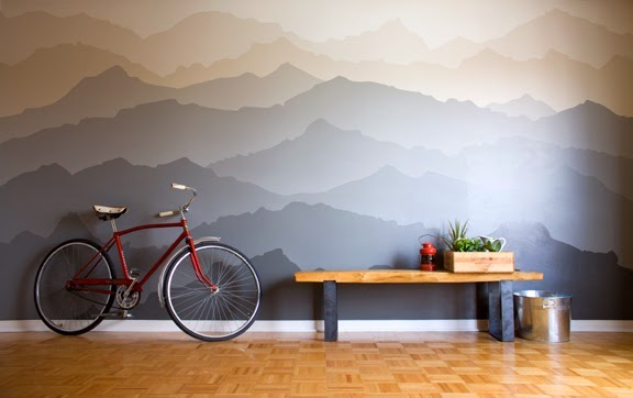 Before and after mountain range paint idea mural the snug - Murales camera da letto ...