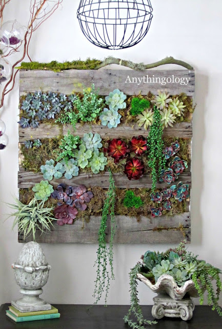 Diy gardening ideas create a living wall or vertical for Pallet succulent garden