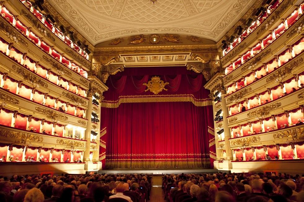 The elegant interior of La Scala