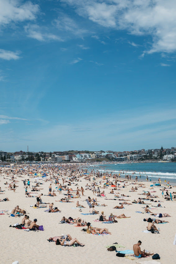 Catching rays at Bondi Beach
