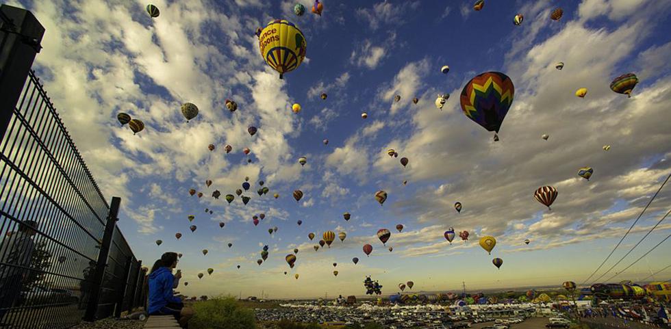 Annual balloon festival in Albuquerque, New Mexico