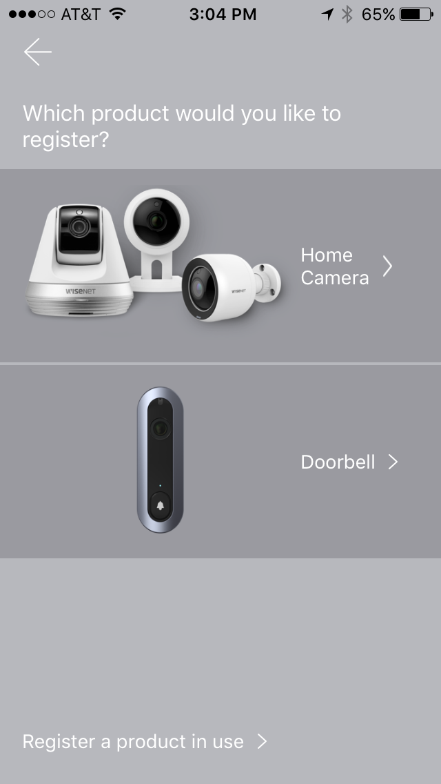 Register your SmartCam A1 Home Security System via SmartCam app.