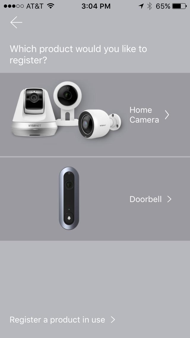 Register your SmartCam A1 Home Security System via SmartCam app.