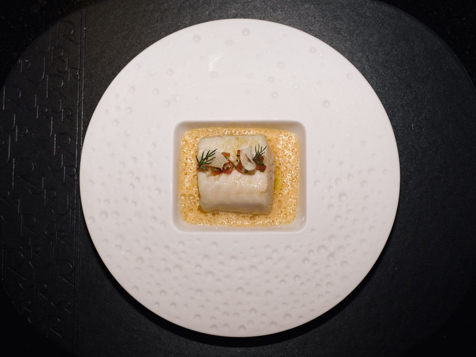 Black cod at L'Atelier de Jo\u00ebl Robuchon