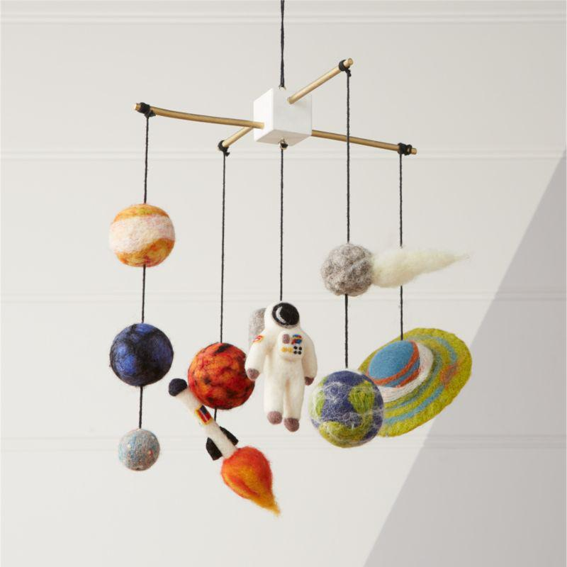 Crate and Barrel solar system mobile