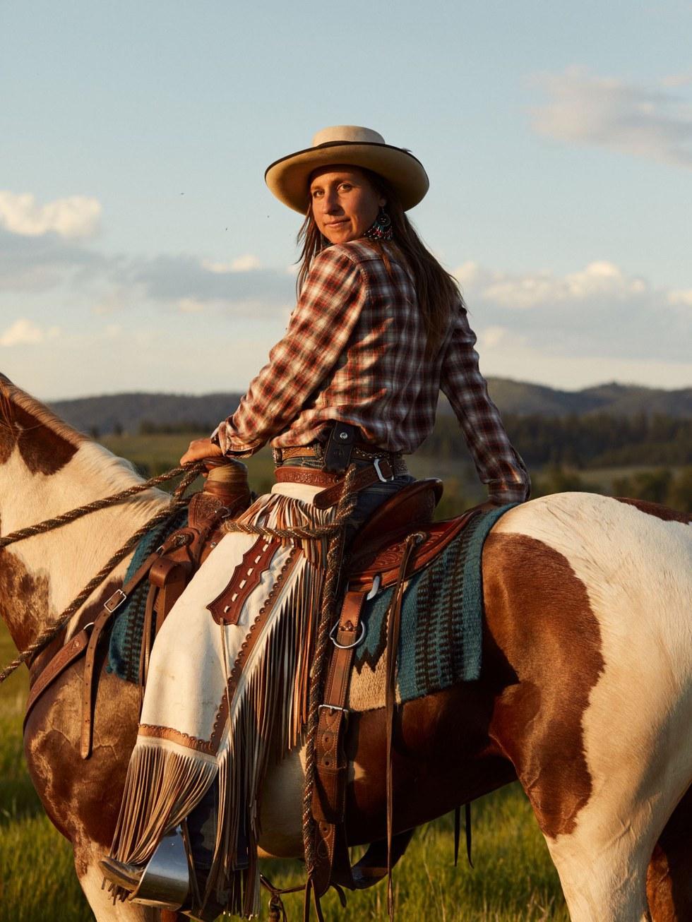 Jackie Kecskes, cattle wrangler