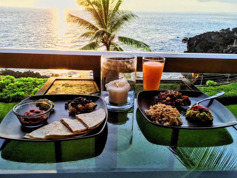 Food prepared at the Hawaii Food & Wine Festival