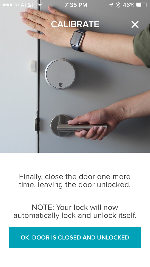 After the last step, your door will be successfully calibrated and ready for use.