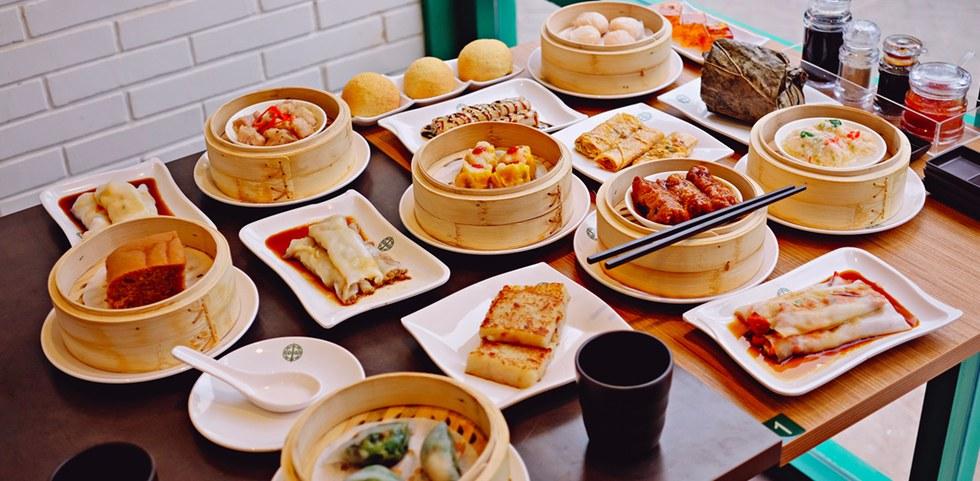Steamed dumplings, dim sum, barbecued pork buns in Hong Kong