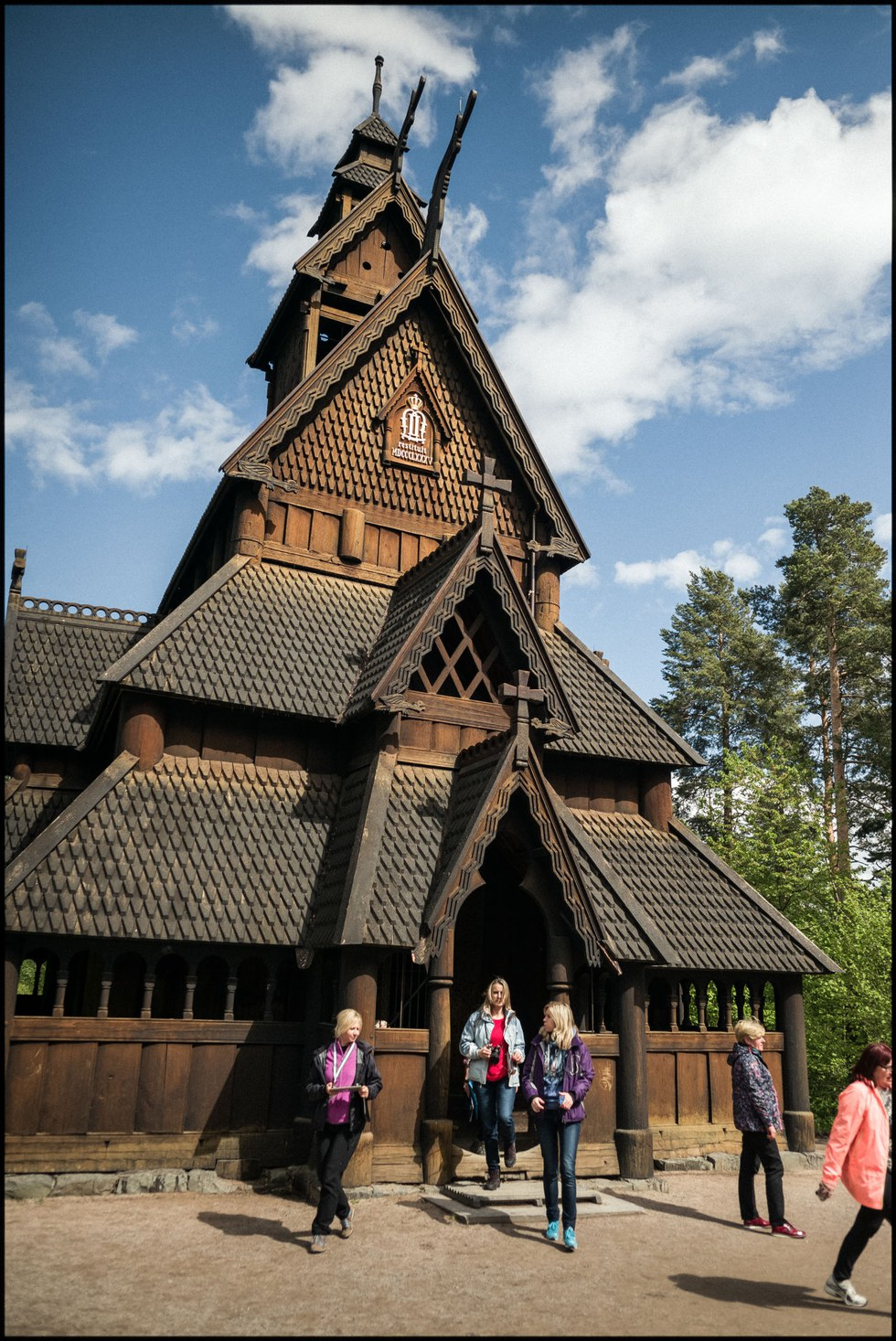 Built in 1200, the Norwegian Folk Museum's Gol Stave Church is littered with eerie carvings