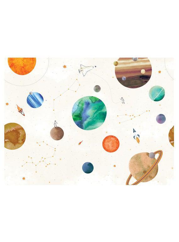 Space mural kids peel and stick wallpaper