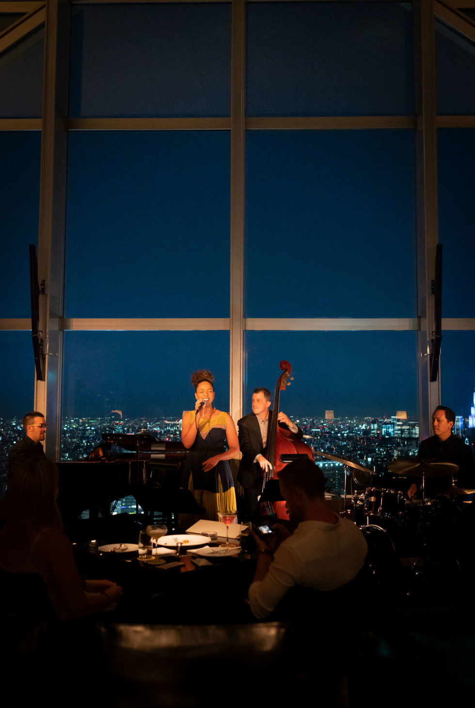 A jazz band at the New York Bar in Tokyo