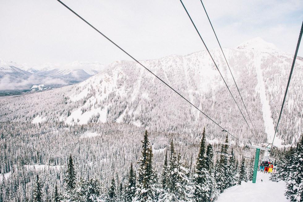 Gondola ride up Healy Creek Valley