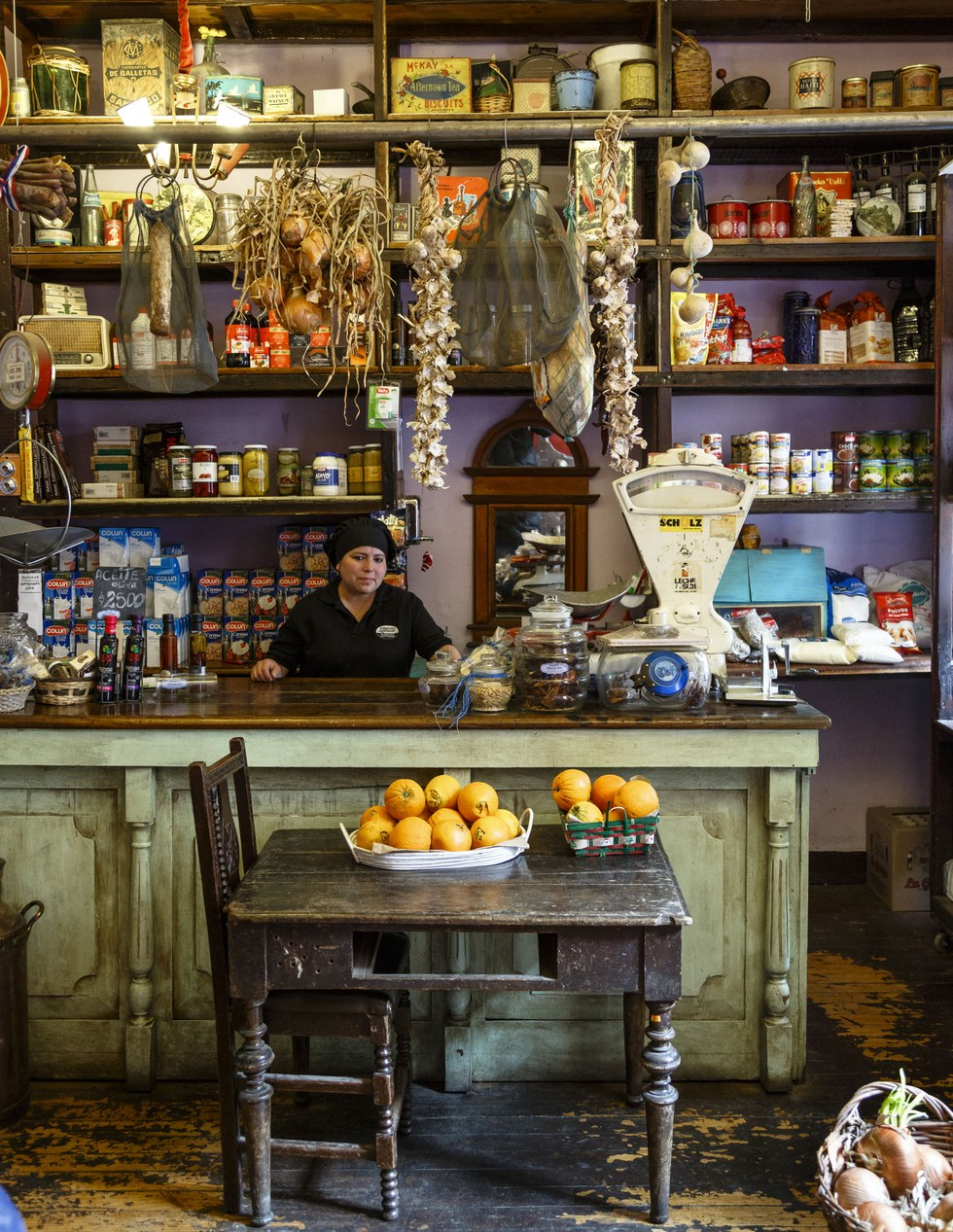 A charming market counter inside the French restaurant Boulevard Lavaud