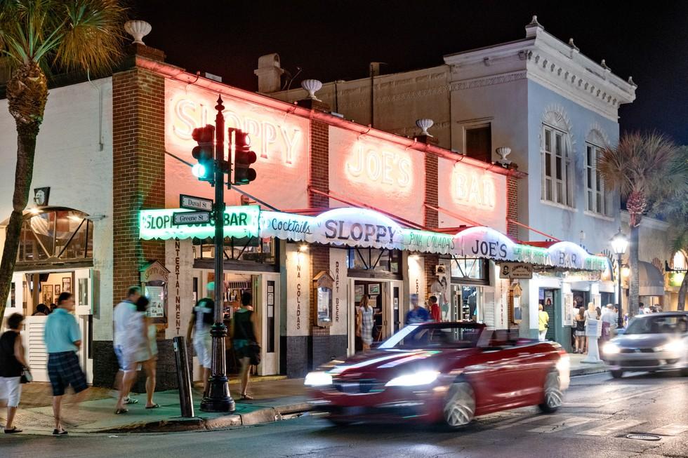 The old Hemingway haunt Sloppy Joe's, on Duval Street
