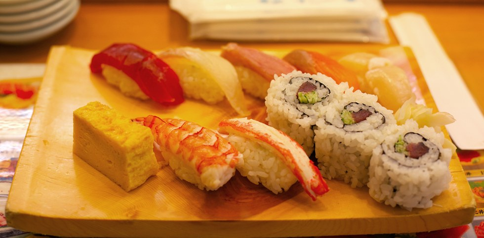 Sushi platter in Tokyo
