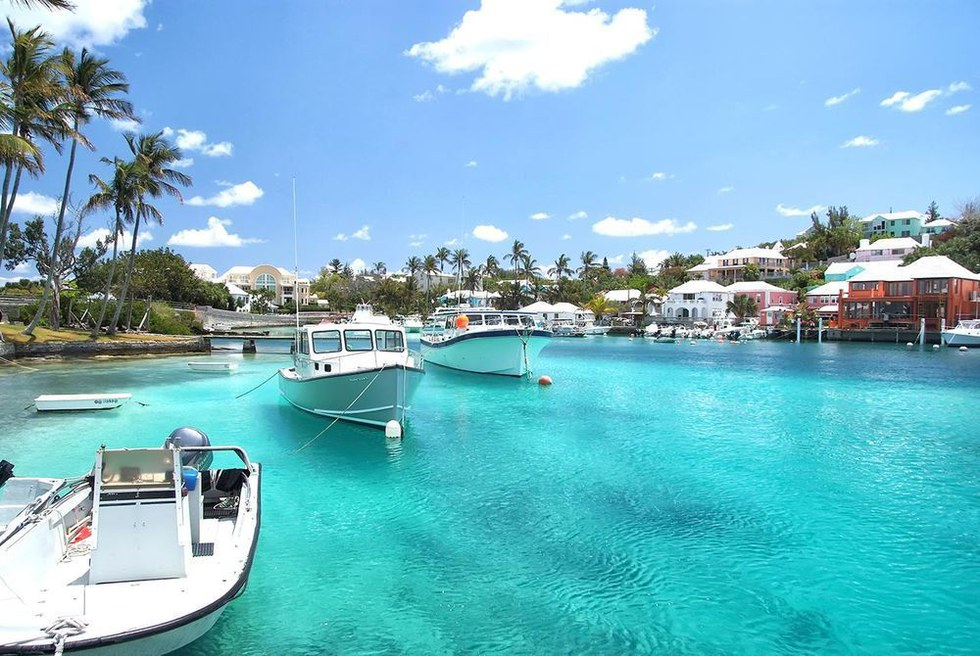 A harbor in Hamilton, Bermuda