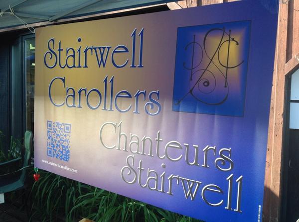 Stairwell Carollers Vinyl Banner