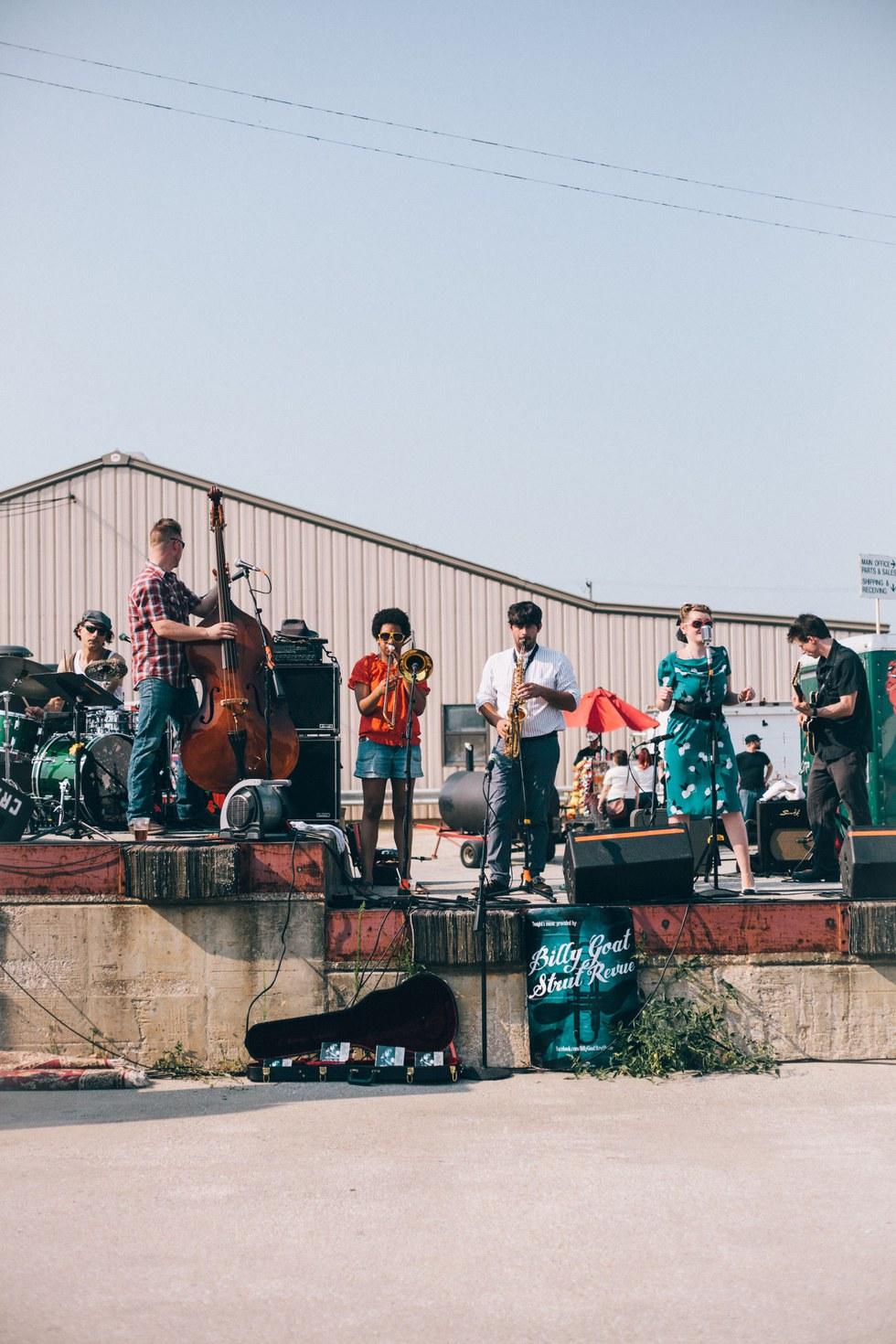 Billy Goat Strut Revue perform at the Flea-Off Market